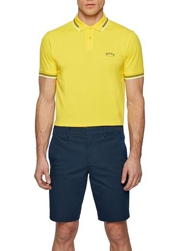 Hugo Boss  Slim Fit Pamuklu Polo T Shirt Erkek Polo 50412675 726 Sarı